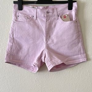 NWT! Levi's Mid Rise Pastel Pink Shorts!